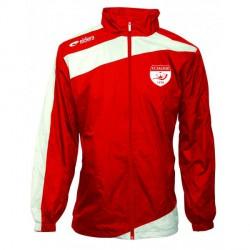 Coupe Vent PRESTIGE Rouge/Blanc + Logo Club