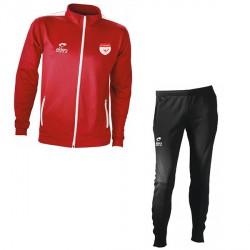 Survêtement SPIDO Rouge / Noir + Logo Club