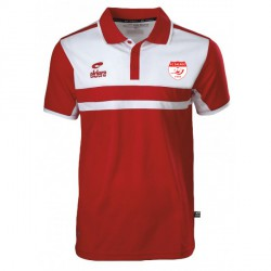 Polo ALLURE Rouge/Blanc + Logo club
