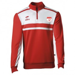 Sweat Zippé ALLURE Rouge/Blanc + Logo club