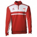 Sweat Zippé ALLURE Rouge/Blanc + Logo club