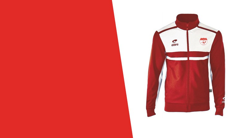 Veste ALLURE Rouge/Blanc + Logo club